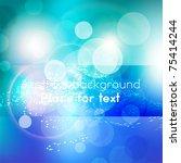 abstract wavy vector design | Shutterstock .eps vector #75414244