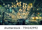 blurred background store... | Shutterstock . vector #754142992