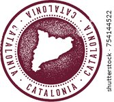 catalonia rubber stamp | Shutterstock .eps vector #754144522