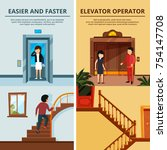banners set of different modern ... | Shutterstock .eps vector #754147708