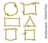 different decorative frames... | Shutterstock .eps vector #754147762
