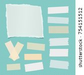 white ripped notebook  note... | Shutterstock .eps vector #754151512