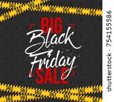 abstract vector black friday... | Shutterstock .eps vector #754155586