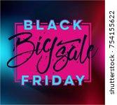 abstract vector black friday...   Shutterstock .eps vector #754155622