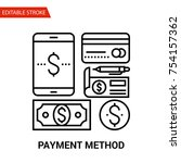 payment method icon. thin line... | Shutterstock .eps vector #754157362