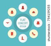 flat icons hosiery  lingerie ... | Shutterstock .eps vector #754159255