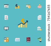 flat icons coins pile  tactics  ... | Shutterstock .eps vector #754167655