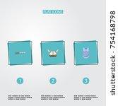 flat icons bulletproof  firearm ... | Shutterstock .eps vector #754168798