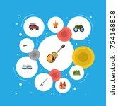 flat icons weapon  caravan ... | Shutterstock .eps vector #754168858