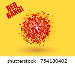 abstract explosion cloud of red ... | Shutterstock .eps vector #754180402