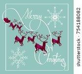 merry christmas. santa claus...   Shutterstock .eps vector #754188082