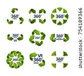 symbols of virtual reality. 360 ...   Shutterstock .eps vector #754189366