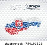slovakia sketch chalk drawing...   Shutterstock .eps vector #754191826