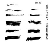 set of hand drawn design... | Shutterstock .eps vector #754194406
