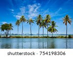 kerala travel tourism...   Shutterstock . vector #754198306