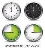 clock set   Shutterstock .eps vector #75420148