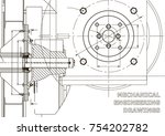 technical illustration.... | Shutterstock .eps vector #754202782