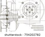 technical illustration.... | Shutterstock .eps vector #754202782