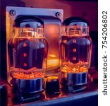 Small photo of Guitar amp power tube glow