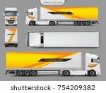 set of vector 3d realistic... | Shutterstock .eps vector #754209382
