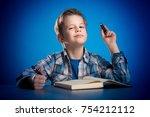 Cute Little Boy Schoolboy In...