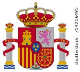 spain coat of arms  official... | Shutterstock .eps vector #754216495