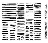 black vector brush strokes of...   Shutterstock .eps vector #754234666