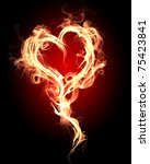 Burning Heart With Flames...