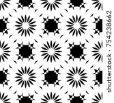 black and white pattern with... | Shutterstock . vector #754238662