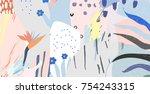 creative universal artistic... | Shutterstock .eps vector #754243315