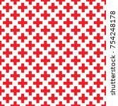 abstract seamless pattern with... | Shutterstock .eps vector #754248178