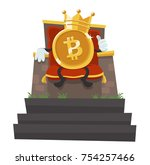 bitcoin   the king of all... | Shutterstock .eps vector #754257466