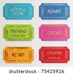 ticket illustration | Shutterstock .eps vector #75425926