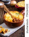 shepherd's pie  traditional... | Shutterstock . vector #754264102
