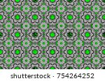 brilliant lace  stylized... | Shutterstock . vector #754264252
