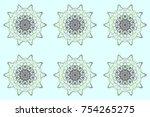raster snowflakes background.... | Shutterstock . vector #754265275
