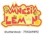 amnesia lemon cannabis strain...   Shutterstock .eps vector #754269892