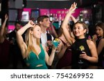 adult colleagues dancing on... | Shutterstock . vector #754269952