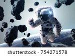 science fiction space wallpaper ...   Shutterstock . vector #754271578