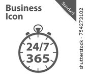 business clock icon 24 7 365... | Shutterstock .eps vector #754273102