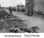 bodies of former ss guards lie... | Shutterstock . vector #754279246