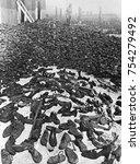 shoes taken from jews at belzec ... | Shutterstock . vector #754279492