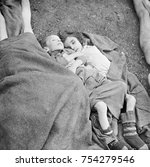 two young children who starved... | Shutterstock . vector #754279546