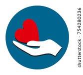 heart hand icon vector | Shutterstock .eps vector #754280236