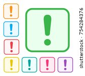 exclamation mark. warning or... | Shutterstock .eps vector #754284376