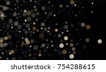 beautiful falling blured... | Shutterstock .eps vector #754288615