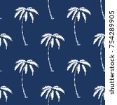palm tree pattern seamless... | Shutterstock .eps vector #754289905