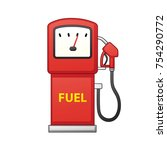 gas filling station fuel pump... | Shutterstock .eps vector #754290772