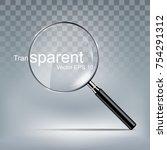 magnify glass transparent lens  ... | Shutterstock .eps vector #754291312