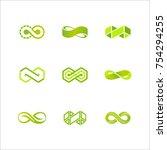 vector infinity logo design. | Shutterstock .eps vector #754294255